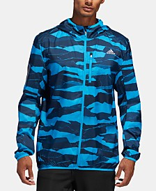adidas Men's Camo Water-Repellent Windbreaker