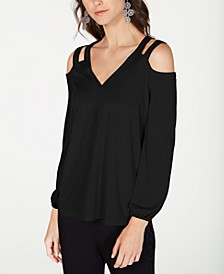 INC Petite Cold-Shoulder Top, Created For Macy's