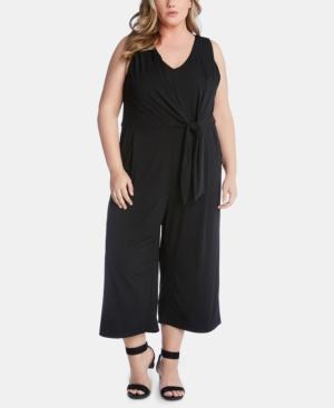Karen Kane Suits PLUS SIZE TIE-FRONT JUMPSUIT