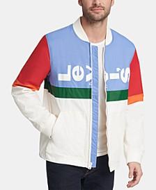 Men's Colorblocked Logo Varsity Jacket