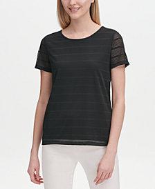 Calvin Klein Shadow Stripe Crewneck Top