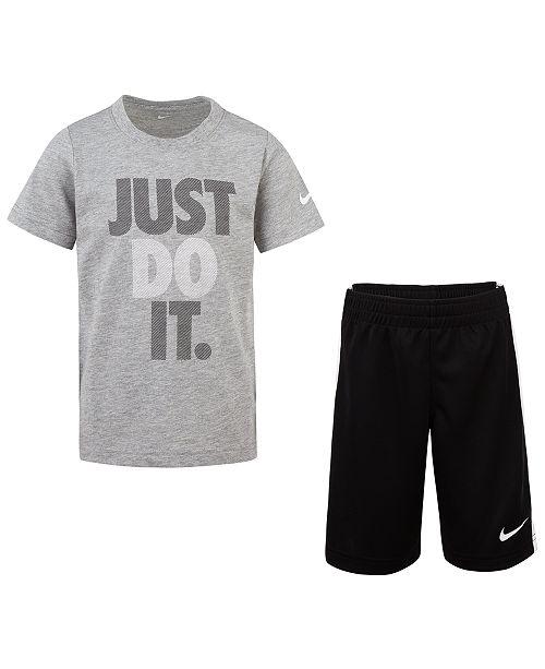 Nike Toddler Boys 2-Pc. Logo-Print T-Shirt & Shorts Set