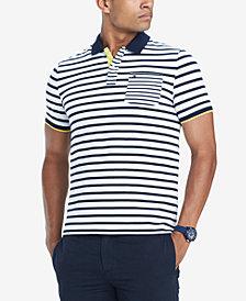 Tommy Hilfiger Men's Giorgio Custom-Fit Stretch Stripe Polo