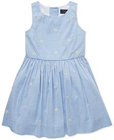 Polo Ralph Lauren Little Girls Daisy Fit & Flare Cotton Dress
