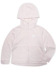 Nike Little Girls Full-Zip Logo Hoodie