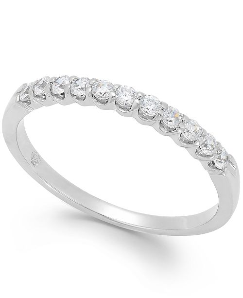 Macy's Diamond Scalloped Band in 14k White Gold (1/4 ct. t.w.)