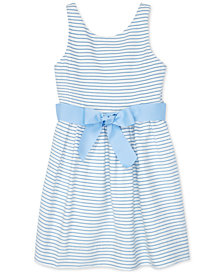 Polo Ralph Lauren Toddler Girls Striped Fit & Flare Cotton Dress