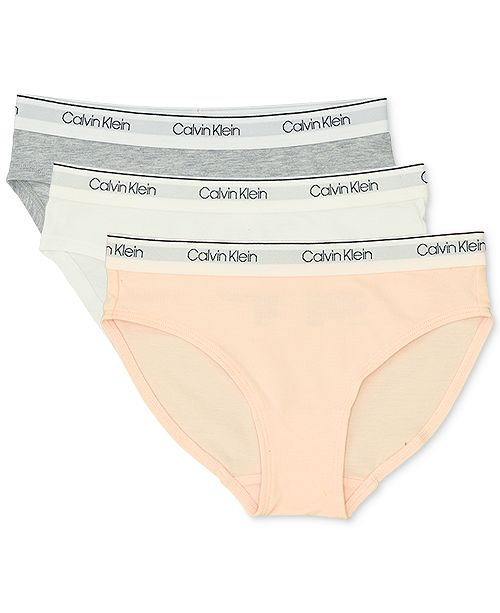 Calvin Klein Little & Big Girls 3-Pack Bikini Brief Underwear