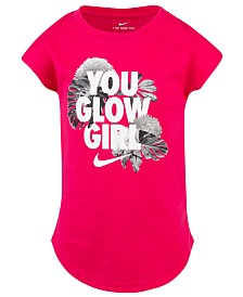 Nike Little Girls You Glow Girls Graphic Cotton T-Shirt