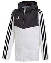 2dce365e3559 adidas Big Boys Original Tiro Hooded Windbreaker Jacket