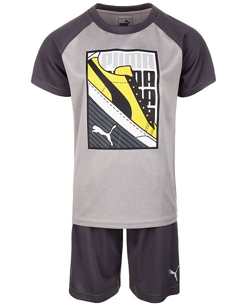 Puma Toddler Boys 2-Pc. Graphic-Print T-Shirt & Shorts Set