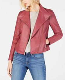 Marc New York Felix Asymmetrical Leather Moto Jacket
