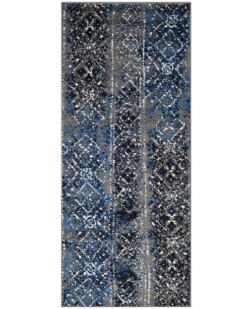 "Safavieh Adirondack Silver and Multi 2'6"" x 6' Runner Area Rug"
