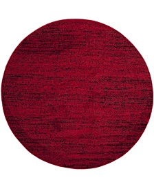 Adirondack Red and Black 6' x 6' Round Area Rug