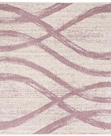 Adirondack Cream and Purple 6' x 6' Square Area Rug