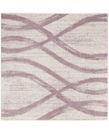 Safavieh Adirondack Cream and Purple 6' x 6' Square Area Rug