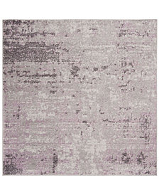 Safavieh Adirondack Light Gray and Purple 6' x 6' Square Area Rug