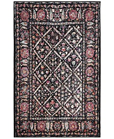 Adirondack Black and Fuchsia 3' x 5' Area Rug