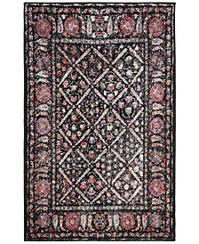 Safavieh Adirondack Black and Fuchsia 3' x 5' Area Rug