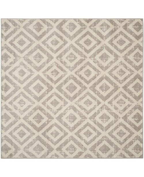 "Safavieh Amsterdam Ivory and Mauve 6'7"" x 6'7"" Sisal Weave Square Area Rug"
