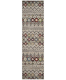 "Safavieh Amsterdam Light Gray and Multi 2'3"" x 8' Area Rug"