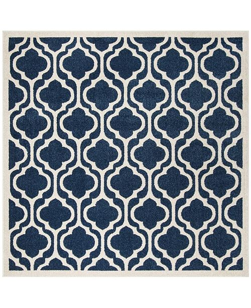 Safavieh Amherst Navy and Beige 7' x 7' Square Area Rug