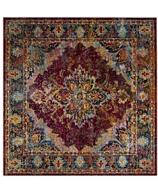 Safavieh Crystal Ruby and Navy 7' x 7' Square Area Rug