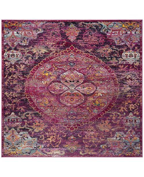 Safavieh Crystal Fuchsia and Purple 7' x 7' Square Area Rug