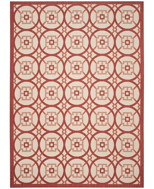 Safavieh Courtyard Beige and Red 8' x 11' Sisal Weave Area Rug