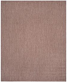 Safavieh Courtyard Rust and Light Gray 8' x 11' Sisal Weave Area Rug