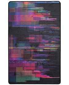 Daytona Black and Fuchsia 3' x 5' Area Rug