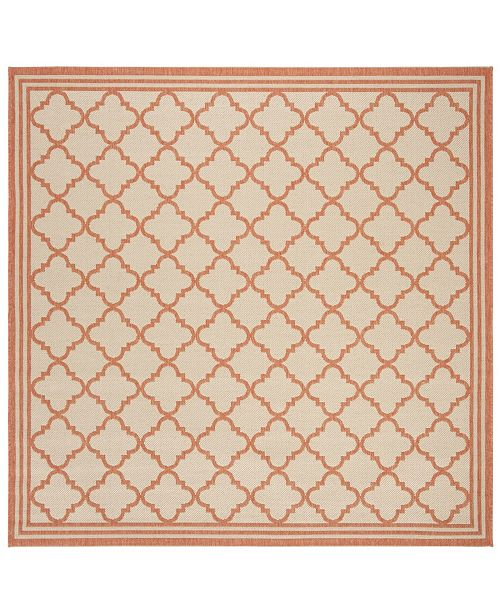 "Safavieh Linden Cream and Rust 6'7"" x 6'7"" Square Area Rug"