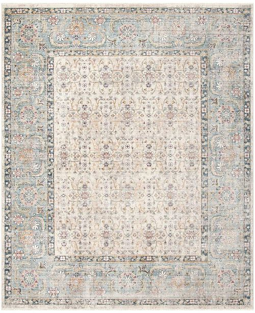 Safavieh Illusion Cream and Light Blue 8' x 10' Area Rug