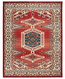 Kashan Red and Ivory 8' x 10' Sisal Weave Area Rug