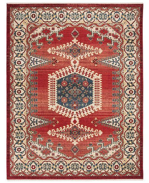 Safavieh Kashan Red and Ivory 8' x 10' Sisal Weave Area Rug