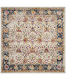 "Safavieh Madison Cream and Navy 6'7"" x 6'7"" Square Area Rug"