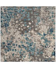 "Safavieh Monaco Gray and Light Blue 6'7"" x 6'7"" Square Area Rug"