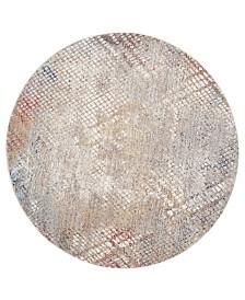 Safavieh Monray Gray and Gold 7' x 7' Round Area Rug
