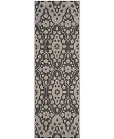 """Martha Stewart Collection Black and Beige 2'7"""" x 8'2"""" Runner Area Rug, Created for Macy's"""