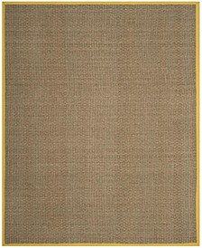 Natural Fiber Natural and Gold 8' x 10' Sisal Weave Area Rug