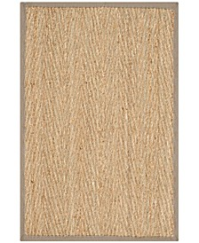 Natural Fiber Natural and Gray 2' x 3' Sisal Weave Area Rug