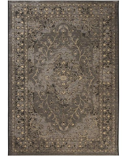 Safavieh Palazzo Black and Creme 8' x 11' Area Rug