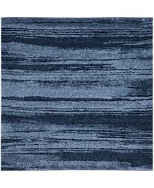 Safavieh Retro Light Blue and Blue 6' x 6' Square Area Rug