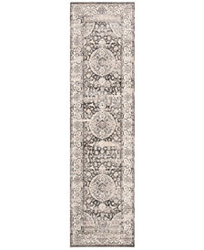 "Safavieh Vintage Persian Dark Grey and Ivory 2'2"" x 8' Runner Area Rug"