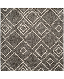 "Safavieh Arizona Shag Brown and Ivory 6'7"" x 6'7"" Square Area Rug"