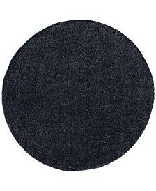 "Safavieh Arizona Shag Blue 6'7"" x 6'7"" Sisal Weave Round Area Rug"