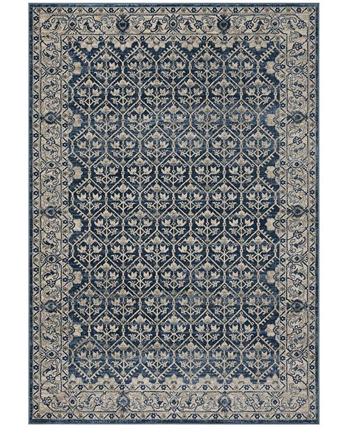 """Safavieh Brentwood Navy and Light Gray 5'3"""" x 7'6"""" Area Rug"""