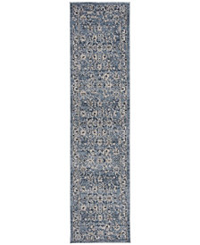 Safavieh Charleston Navy and Light Gray 2' x 8' Area Rug