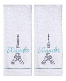 Wander Paris 2-Pc. Hand Towel Set