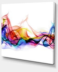 "Designart Abstract Smoke Contemporary Artwork - 40"" X 30"""